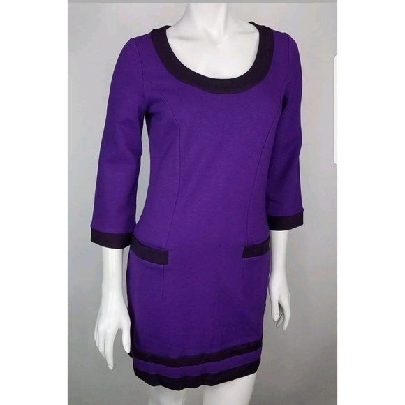 Boden Dresses & Skirts - Boden Long Sleeve Purple Scoop Neck Dress